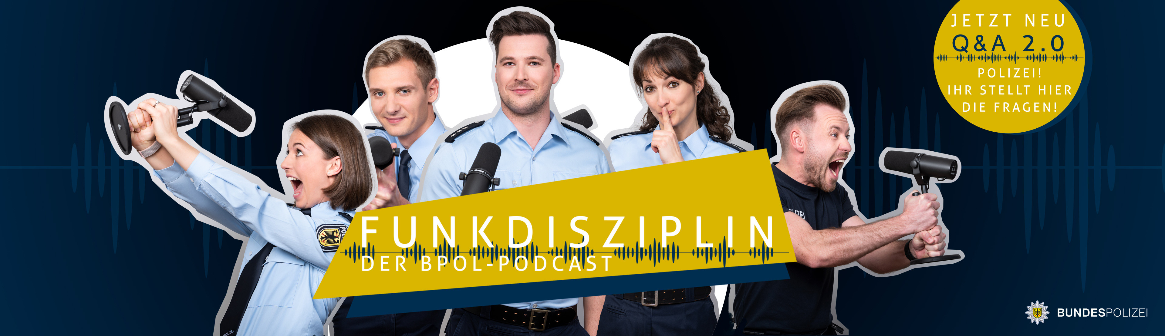 Header zum Podcast der Bundespolizei